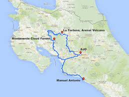 Map Directions Driving Paradise Discovered Costa Rica Vacation Plan