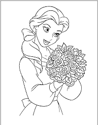 disney beauty and the beast coloring pages getcoloringpages com