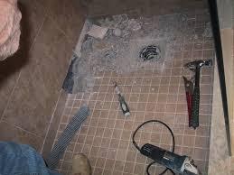 basement ceiling leak u2013 part 8 u2013 shower floor removal begins