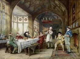 handmade painting classical court gentleman eat turkey