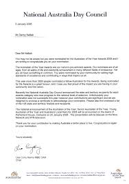Sample Business Visa Invitation Letter by Australian Of The Year Nomination Award For Pastor Dannyofficial