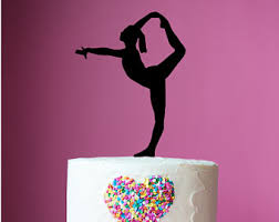 gymnastics cake toppers gymnast cake topper etsy