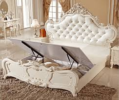 Online Get Cheap White Leather Bedroom Set Aliexpresscom - White leather queen bedroom set