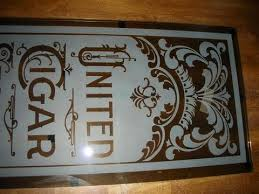 deer hunting cabin custom personalized etched bar mirror glass pub