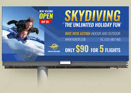 skydiving billboard template by owpictures graphicriver