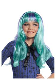 All Monster High Halloween Costumes Blue Wigs