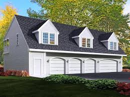 brick faced two car garage with loft planfree floor plans free
