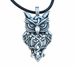 vintage owl pendant necklace images Celtic owl pendant necklace taphel jpg