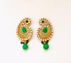 emerald earrings uk pearl gold aam baali earrings pj120 colours available sajaa online