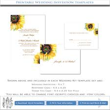 wedding invitations sunflower printable wedding templates