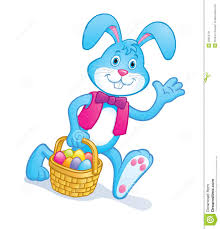 bunny basket eggs easter bunny carrying basket with eggs stock photo image 49354761