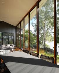 forest house combined with dark furniture color and warm wooden
