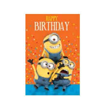 minions birthday card kids themed party supplies character