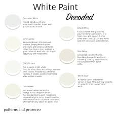 choosing the right white paint patterns u0026 prosecco