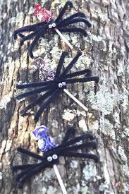 Halloween Tree Craft by Halloween Lollipop Spiders Craft U2022 Fyi By Tina