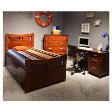 Captain Bed With Desk Village Craft Twin Captain Bed W Bunkie Board El Dorado Furniture