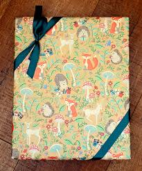 hedgehog wrapping paper woodland animals wrapping paper hedgehog wrapping paper fox gift