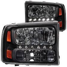 led strip lights headlights amazon com 1999 2004 ford f250 f350 superduty l e d headlights