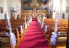 wedding ideas church wedding decorations with columns church