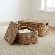 Wicker Nightstands For Sale Baskets Wicker Wire Woven And Rattan Crate And Barrel