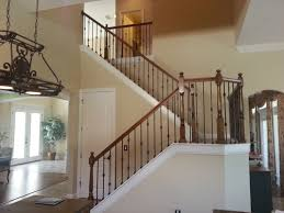 decor u0026 tips cool iron stair railing design with wood handrails