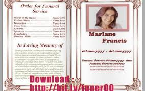 free funeral program templates download free funeral program