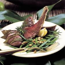 rack of lamb with fresh herbs and garlic recipe epicurious com