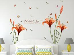 buy solimo wall sticker for bedroom blooming lilies ideal size buy solimo wall sticker for bedroom blooming lilies ideal size on wall 175 cm x 120 cm online at low prices in india amazon in