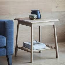 Oak Side Table Solid Oak Side Table Shop Modern Side Tables Modish Living
