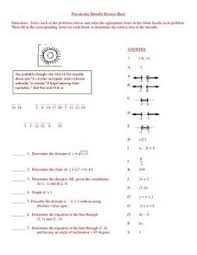 precalculus droodle review sheet 10th 12th grade worksheet