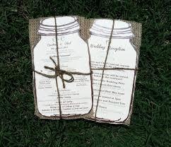burlap wedding programs rustic jar burlap wedding programs 100 2486829 weddbook