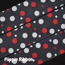 and white polka dot ribbon and white polka dot ribbon 1 1 2 inch printed grosgrain ribbon