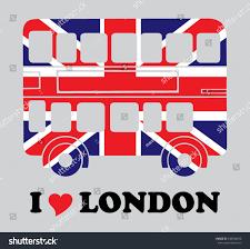 London Flag Bus London Flag Print Stock Vector 150748280 Shutterstock