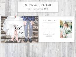 photography gift certificate template psd for photoshop portrait