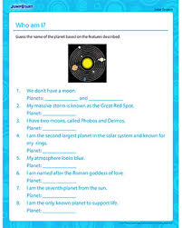 who am i solar system worksheets about planets jumpstart