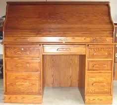 furniture used oak roll top desk and wooden rolltop computer for