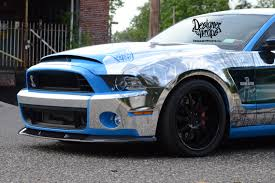 shelby mustang 1000 hp custom chrome mustang shelby1000 by designer wraps 1000hp car