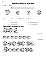 2 md 8 money 2nd grade common core math worksheets 1st 9 weeks