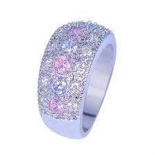 Purple Wedding Rings by Online Get Cheap Pink Wedding Rings Aliexpress Com Alibaba Group