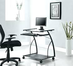 portable computer desk portable computer desks furniture staples cart desk with wheels in a black finish