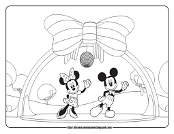 bow coloring minnie mouse hair pages omeletta