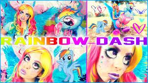 Pony Rainbow Dash Halloween Costume Pony Halloween Makeup Images