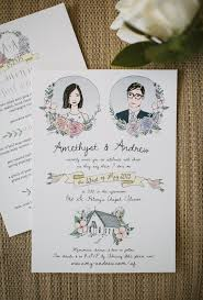 330 Best Images About Lovely 10 Beautiful Hand Illustrated Wedding Invites Brit Co