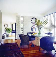 Retro Dining Room Retro Dining Room In Narrow Space With Wicker Rattan Chairs And