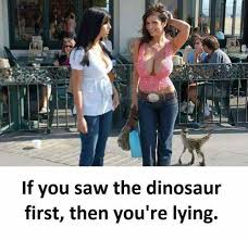What If Dinosaur Meme - dopl3r com memes if you saw the dinosaur first then youre lying