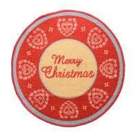 tappeti natalizi tappeto natalizio merry zerbino rotondo natale 70 cm n626