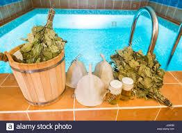 bath accessories in the russian bath bathroom items of