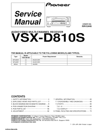 pioneer vsx d810 rrv2446 service manual am broadcasting
