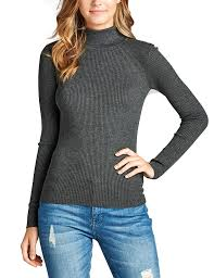 fitted sweater womens sleeve fitted turtle neck ribbed sweater top kogmo
