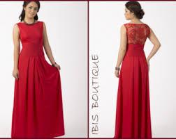long red dress etsy